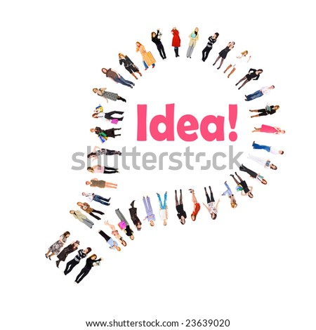 Bulb is for idea - stock photo