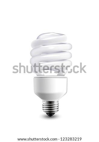 bulb isolated on white background - stock photo
