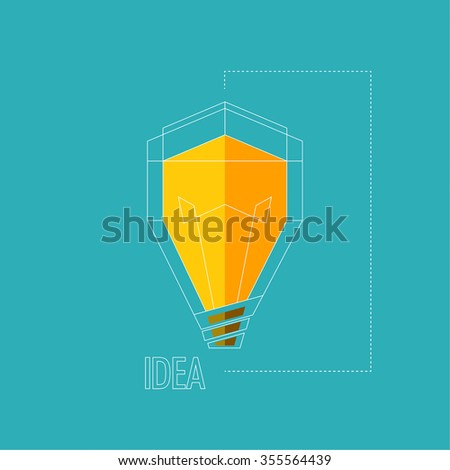 Bulb light idea. concept of big ideas inspiration innovation, invention, effective thinking. - stock photo