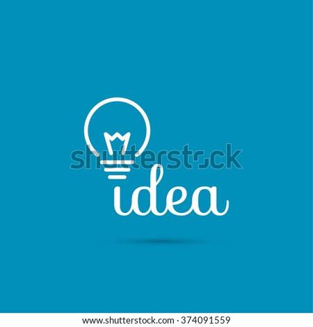 Bulb light idea. flat design. concept  of ideas inspiration innovation, invention, effective thinking - stock photo