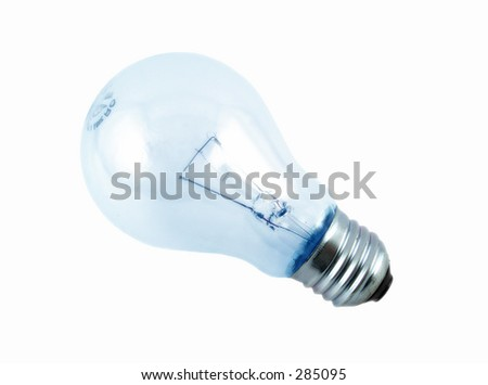 bulb on white background - stock photo