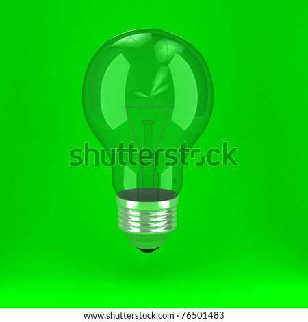 Bulb over background. 3d computer generated image