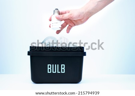 Bulb placed in containers for segregation. - stock photo