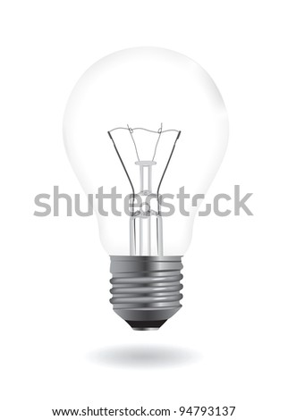 Bulb realistic illustration. Vector illustration EPS 8.