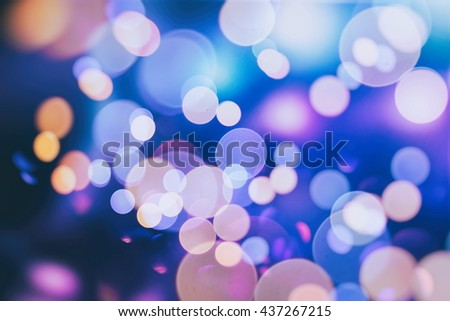 bulbs lights background:blur of Christmas wallpaper decorations concept.xmas holiday festival backdrop:sparkle circle lit celebrations display. - stock photo