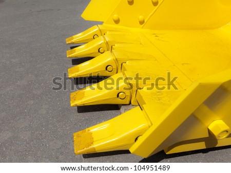 Buldozer blade - stock photo