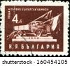 BULGARIA - CIRCA 1951: A stamp printed in Bulgaria shows First Bulgarian Truck, circa 1981 - stock photo