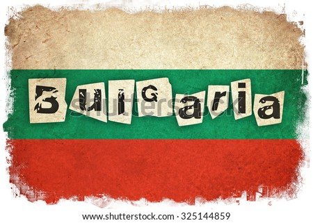 Bulgaria grunge flag background illustration of european country with text