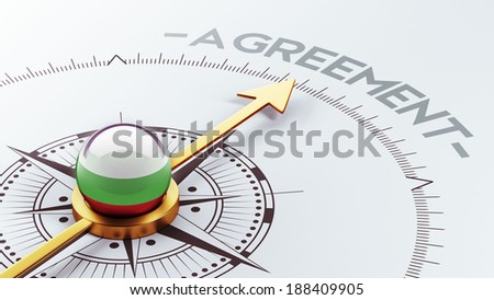 Bulgaria High Resolution Agreement Concept - stock photo