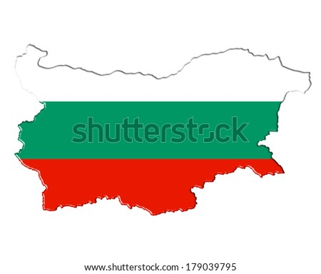 Bulgaria map flag plan banner