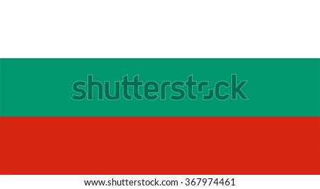 Bulgarian flag and language icon - isolated illustration - stock photo