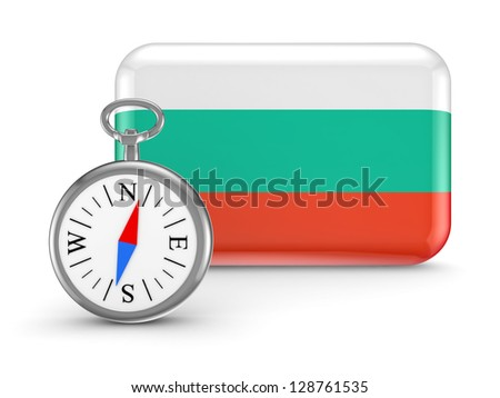 Bulgarian flag.Isolated on white background.3d rendered. - stock photo