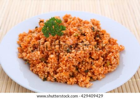 Bulgur salad - stock photo