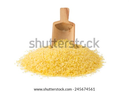 Bulgur With Scoop - stock photo