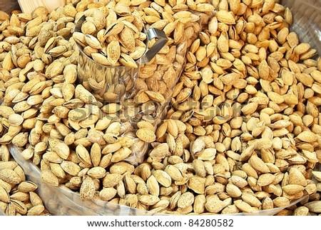 Bulk Almonds - stock photo