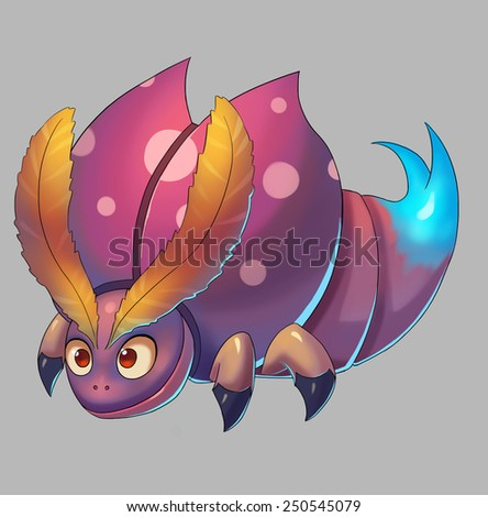 Bull Bug - Creature Design - stock photo