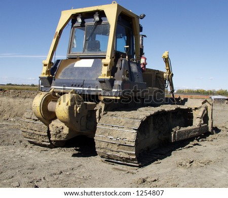 Bull dozer - stock photo