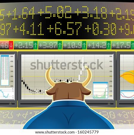 bull market - stock photo