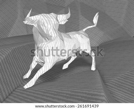 Bull market and stock exchange abstract idea illustration. - stock photo