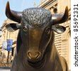 Bull market - the bull symbolizes booming financial markets. - stock photo