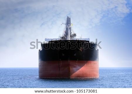 Bullcarrier anchored - stock photo