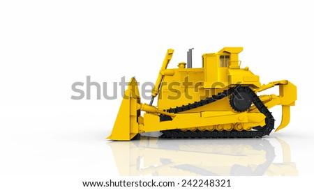Bulldozer Computer generated 3D illustration - stock photo