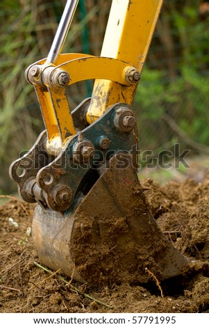 bulldozer detail - stock photo