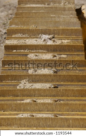 Bulldozer or Machinery Track Detail - stock photo