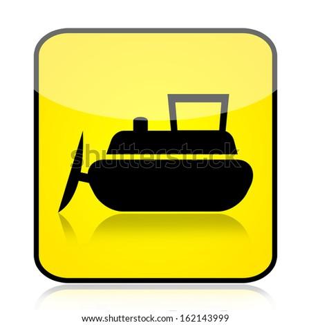 Bulldozer sign - stock photo