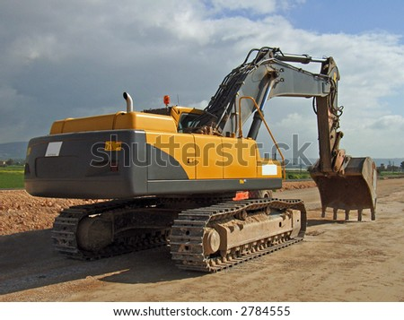 Bulldozer working in a new highway in Majorca