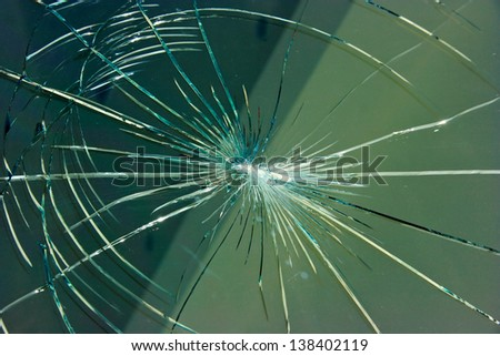 Bullet hole - stock photo