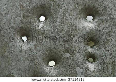 bullet holes - stock photo