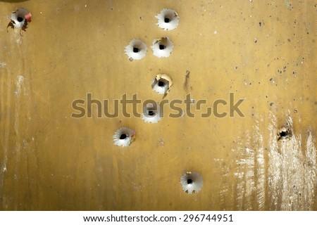 bullet holes, texture, metal, shooting, shooting on the street, shot, target, bullet, grapeshot, gunpowder, background