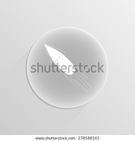 Bullet icon on a white button with shadow - stock photo