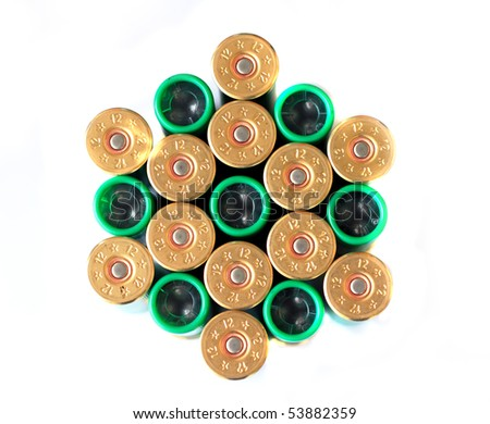 bullet isolated on white background - stock photo