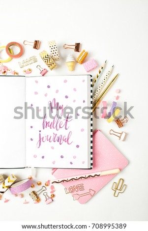 bullet journal and stationery