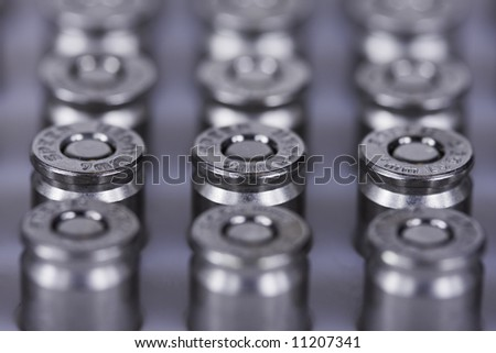 bullet rows - stock photo