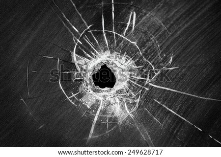bullet shot cracked hole on car stock photo 249628717 shutterstock. Black Bedroom Furniture Sets. Home Design Ideas
