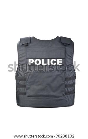 Bulletproof vest from behind - stock photo