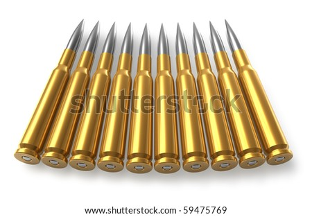 Bullets for  sniper rifle - stock photo