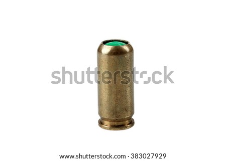 bullets gun on white isolated background - stock photo