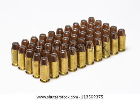 Bullets on white background - stock photo
