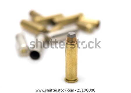 bullets on white background - stock photo