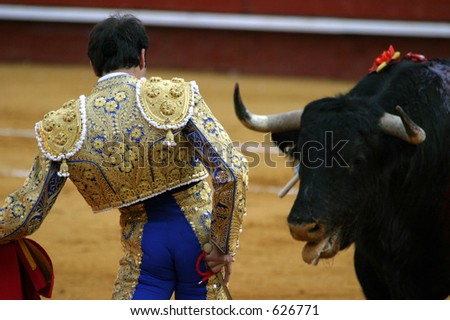 bullfight - stock photo