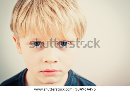 Bullied child - stock photo