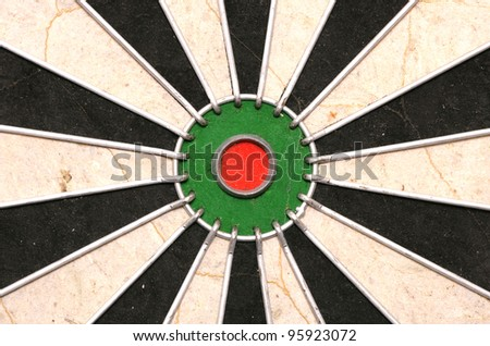 Bulls eye of a Dartboard abstract background