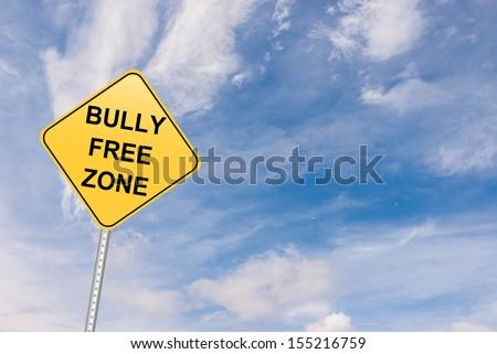 bully free zone road sign - stock photo