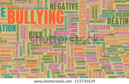 Bullying as a Social Problem with Children - stock photo
