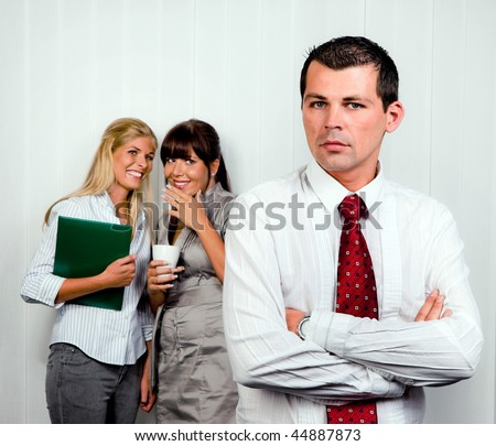 Bullying at work in an office - stock photo