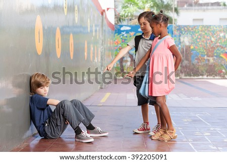 Bullying concept at school. - stock photo